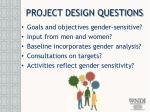 project design questions
