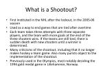 what is a shootout