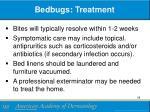 bedbugs treatment