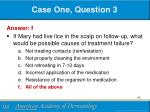 case one question 31