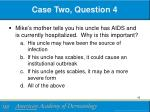 case two question 4