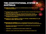the constitutional system in australia
