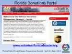 florida donations portal
