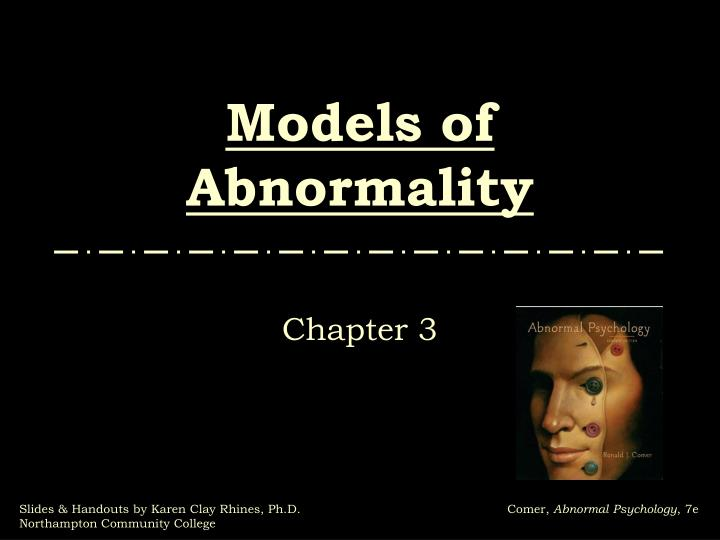 models of abnormality n.