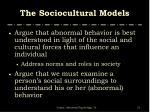 the sociocultural models