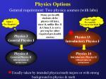 physics options