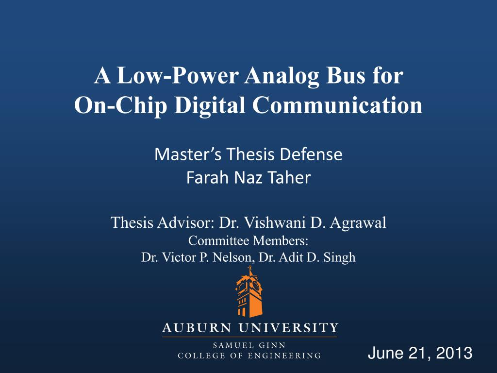 Digital communication master thesis