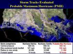 storm tracks evaluated probable maximum hurricane pmh