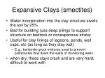 expansive clays smectites