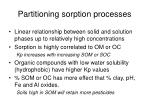 partitioning sorption processes
