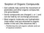 sorption of organic compounds