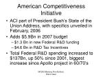 american competitiveness initiative