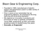 bison gear engineering corp