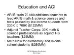 education and aci