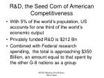 r d the seed corn of american competitiveness