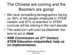 the chinese are coming and the boomers are going