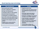 broad impacting scope and strategy