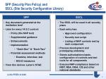 spp security plan policy and sscl site security configuration library