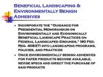 beneficial landscaping environmentally benign adhesives