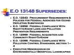 e o 13148 supersedes