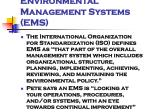 environmental management systems ems