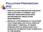 pollution prevention p2