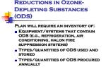 reductions in ozone depleting substances ods1