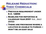 release reduction toxic chemicals1