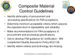composite material control guidelines