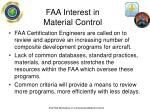 faa interest in material control