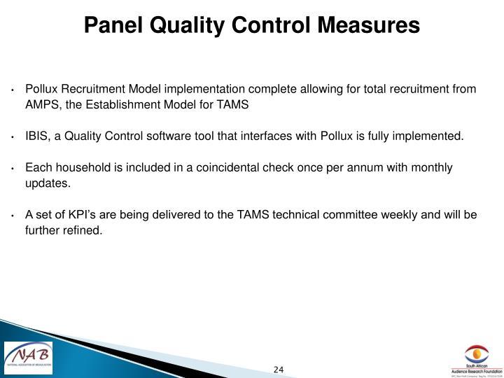 Panel Quality Control
