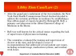 libby zion case law 2
