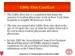 libby zion case law
