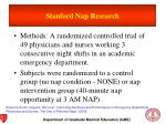stanford nap research1