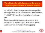 the effects of a mid day nap on the neuro cognitive performance of medical interns1