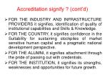 accreditation signify cont d