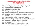 iv human resources faculty staff 200 dept files managed by jayasree n r shereefa