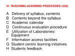 vi teaching learning processes 350