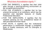 what does accreditation signify