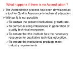 what happens if there is no accreditation