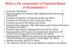 what is the composition of national board of accreditation