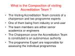 what is the composition of visiting accreditation team