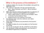 what is the process of accreditation