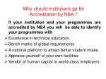 why should institutions go for accreditation by nba