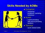 skills needed by aoms