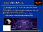 origin of the asteroids