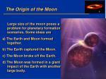 the origin of the moon