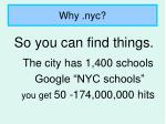 why nyc8