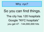 why nyc9