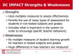 dc impact strengths weaknesses